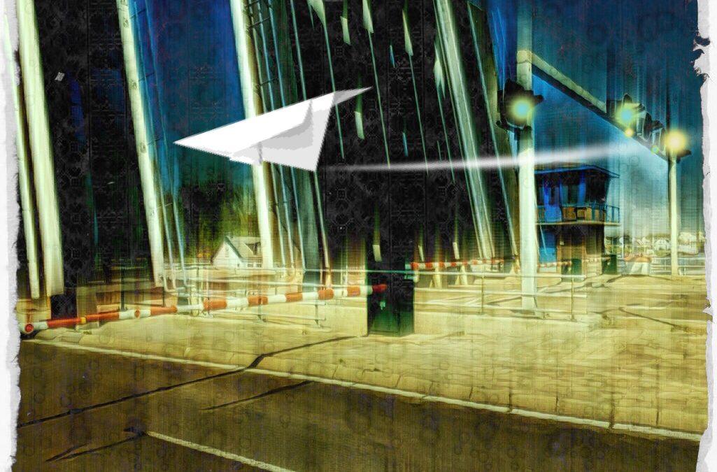 Jan Uiterwijk ~ The flight of the paperdrone