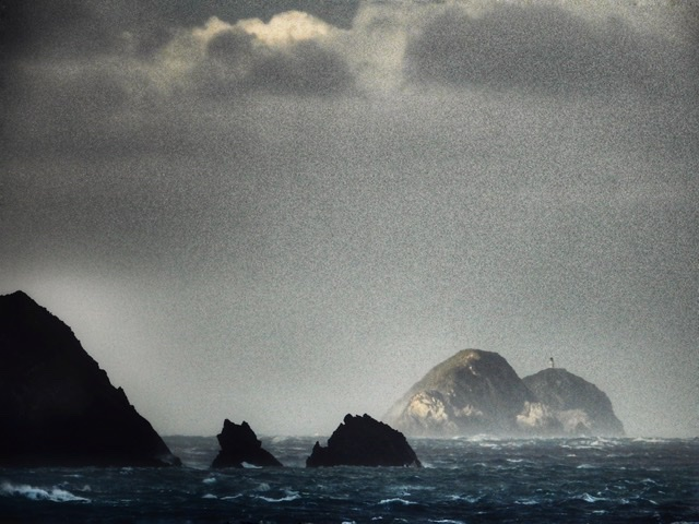 Leon Williams ~ Crossing Cook Strait in a Gale Force Southerly and 5m swells, arriving just outside of Tory Channel in the Marlborough Sounds, New Zealand