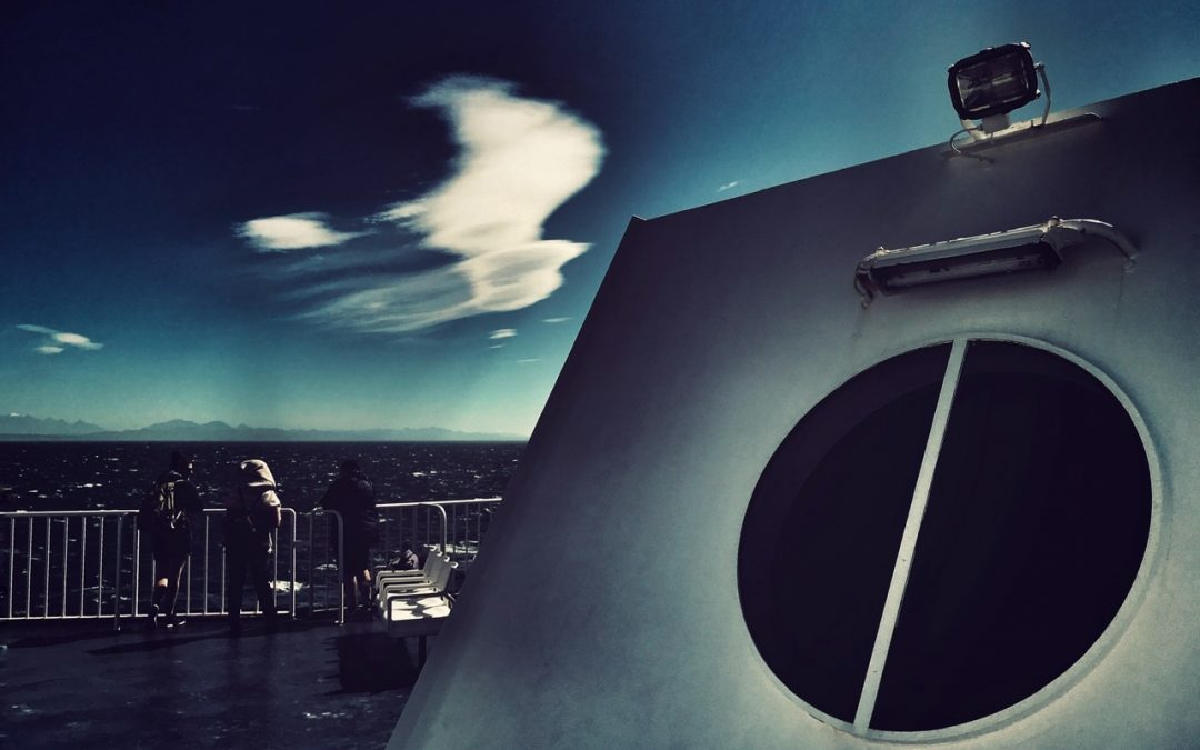 Leon Williams ~ Cloud over Cook Strait, New Zealand.
