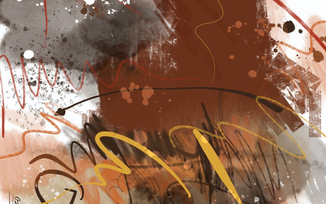 {sunday} James Metcalf ~ Abstract expressionist digital painting titled Mocha Caramel.