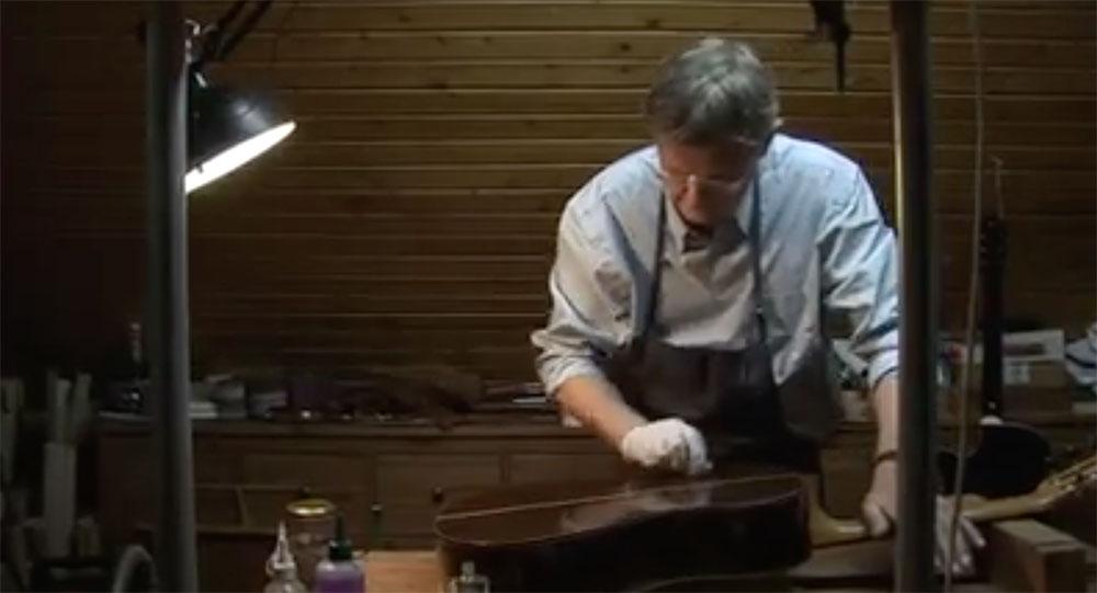 {video} Guitar maker Kenneth Brögger building a guitar in his workshop